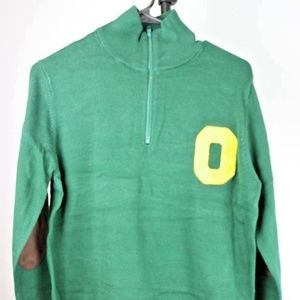 Oregon Ducks Men's Quarter Zip Sweater (Green)